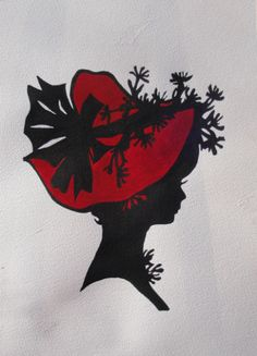 "Silhouettes - ""Cherie"" - Acrylic painting by Lorraine Skala - prints and notecards available at lorriskala@aol.com"