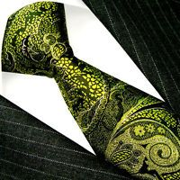 36024 LORENZO CANA Authentic Italian Tradition 100% Silk Neck Tie Green Floral