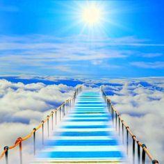 Stairway to Heaven Stairway To Heaven, Jesus Is Coming, Prophetic Art, Angel Pictures, Bible Pictures, New Journey, Rainbow Bridge, Pathways, Stairways