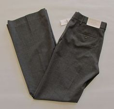 "New Gap Perfect Trouser Pants 2 R Dark Gray Two Way stretch Dress Flare Leg 33"" #GAP #DressPants"