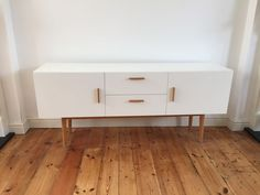 Made.com Bergman Cabinet Sideboard TV Stand Scandi Retro White Oak | eBay