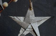 Weihnachtssterne aus papier basteln vorlagen kinder zeitungen