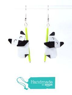 Boucles d'oreilles pandas contents en origamis à partir des LePaslaid https://www.amazon.fr/dp/B01M0M2S5S/ref=hnd_sw_r_pi_dp_P4BVyb29Y0S0M #handmadeatamazon