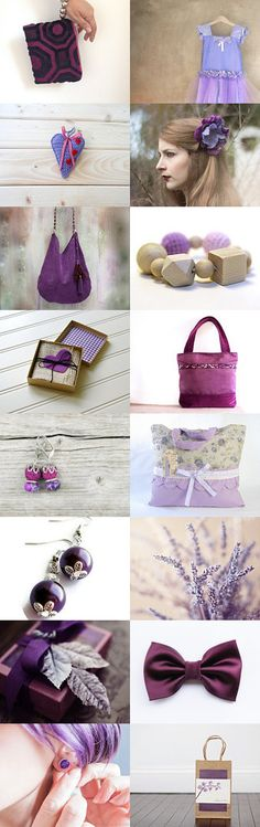 Lovely purple gifts for her by Mary on Etsy--Pinned with TreasuryPin.com