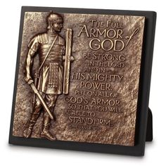 Lighthouse Christian Products Moments of Faith Small Square Armor of God Sculpture Plaque, 5 x 5 Armor Of God, Cast Stone, Scripture Verses, Bible Art, Christmas Activities, Sculpture Art, Lighthouse, Christianity, 3 D