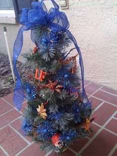 "University of Florida Gators Christmas Tree Lights up Orange 24"" @uflorida @universityofflorida @floridagators"