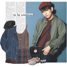 Taehyung: to be continued by yxing on Polyvore featuring Betmar, NIKE, Fjällräven, Wrangler, YES, Tag, kpop, bts and taehyung