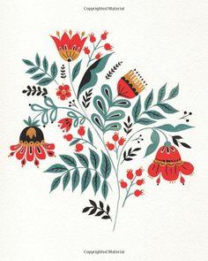 Imagine a Forest: Designs and Inspirations for Enchanting Folk Art Folk Art Flowers, Flower Art, Floral Illustrations, Illustration Art, Art Sketches, Art Drawings, Scandinavian Folk Art, Art Corner, Embroidery Art