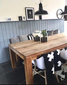 binnenkijken bij kruidje2 - Black, white, wood and a little bit of blue !