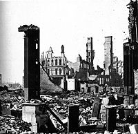 The Great Chicago Fire was a conflagration that burned from Sunday, October 8, to early Tuesday, October 10, 1871, killing hundreds and destroying about 3.3 square miles. Though the fire was one of the largest U.S. disasters of the 19th century, the rebuilding that began helped develop Chicago as one of the most economically important American cities. The popular account dreamed up by a reporter, attributing it to Mrs. Catherine O'Leary and her cow, survived his confession of fiction in…