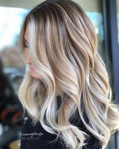 Greatest Vanilla Cream Blonde Hair Color Ideas for 2019 - Hair - Hair Styles Ombre Hair Color, Hair Color Balayage, Blonde Color, Cool Hair Color, Blonde Ombre, Blonde Bayalage Hair, New Hair Colors, Blonde Brunette, Amazing Hair Color