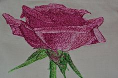 rose photo stitch free embroidery design