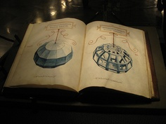Luca Pacioli´s book De Divina Proportione illustrated by Leonardo da Vinci.