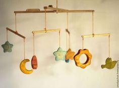 Развивающие игрушки ручной работы. мобиль деревянный  на кроватку (карусель, колыбелька). Деревянные игрушки семьи Михеевых. Ярмарка Мастеров. в детскую