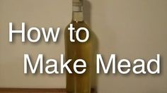 How to Brew Simple Mead at Home ( Honey Wine) with Cinnamon Clove Easy a. How To Make Mead, Mead Recipe, Honey Wine, Hobby Farms, Edible Garden, Alcoholic Drinks, Beverages, Home Brewing, White Wine
