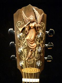 "Blueberry ""Christian"" Motif Acoustic Guitar"