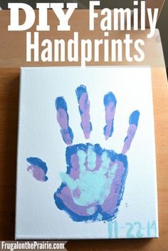 A DIY family handprint project that is easy to do and will be cherished for years to come. This budget friendly activity only requires 5 items to complete!