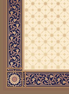 Historic Art Wallpaper | Aesthetic Movement Jeffrey Roomset - Ceiling Detail | Bradbury & Bradbury