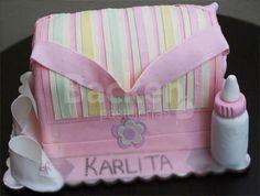 Diaper Bag Cake, Girl Cakes, Baby Shower Cakes, Babyshower, Cakes With Fondant, Pies, Guadalajara, Wish, Hipster Stuff