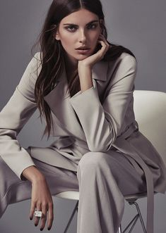 The Model wears Vance Cropped Mac, Becci Wide-Leg Trousers, and Halley Statement Ring.
