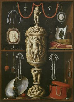 Cabinet of Curiosities  by Johann Georg Hainz, late 1600s