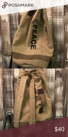 Back pack/bag combo Rugged drawstring bag/backpack durable - used for just about anything except evening wear! Lovestitch Bags Backpacks