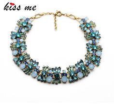 11,98€- New Design Classic Fashion jewelry Glass Stone Luxury Flowers Necklaces &Pendant - ShiJie Jewelry Factory