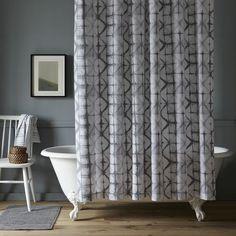 Shibori Shower Curtain   west elm
