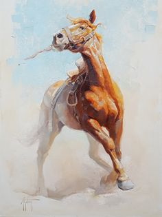 Abigail Gutting - Portfolio of Works: The American West Horse Drawings, Animal Drawings, Art Drawings, Clown Paintings, Animal Paintings, Art Of Dan, Horse Artwork, Watercolor Horse, Boat Painting