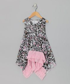 Take a look at this Charcoal & Pink Cover-Up - Infant & Girls by Frankie & Daisy on #zulily today!