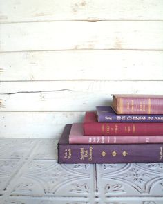 Purple Books Instant Library Collection by sorrythankyou79 on Etsy, $30.00