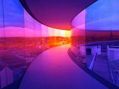 Your Rainbow Panorama by Olafur Eliasson, who's half Danish. On top of ARoS Aarhus Museum of Modern Art in Aarhus, Denmark. #allgoodthings #danish #museum spotted by missdesignsays.