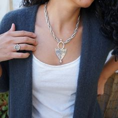 @houseofasterodea posted to Instagram: #BrandNew necklace that's going to win you over at first sight. Chunky necklace is a standout accessory that every woman needs season to season. Antique Silver Tuareg Shield Pendant Necklace ---> LINK IN BIO Welcome to #\\\\\# #\\# #\\\\\\\\\# • 10% off storewide • 15% off Every Woman, Antique Silver, Pendant Necklace, Chain, Diamond, Antiques, Accessories, Jewelry, Women