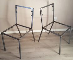 Steel Dining Chair Frame Set of 2 Chair Frames DIY Create your own Dine Chair Frame Dining Chair Frame Industrial Furniture Custom Chairs