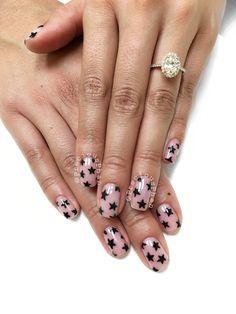 Negative space nails. Stars. #PreciousPhan