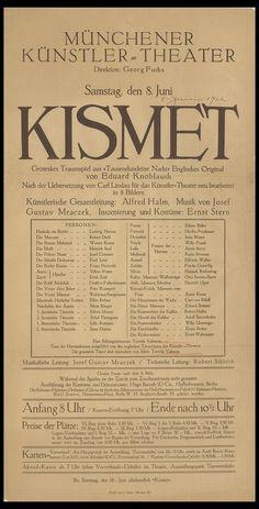 Kismet Data: 1912  MAE: C 3548 Registre 213829 Tipologia: Col·lecció Cartells…
