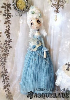 Urchin Art Doll by Vicki at Lilliput Loft ~Bellamy Bardot from Masquerade Collection