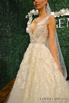 Feminine-meets-sexy wedding dress by Jorge Manuel