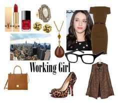 Working Girl or Darcy as Coulson's assistant by usedkarma on Polyvore featuring La Petite S*****, BA&SH, Christian Louboutin, Dooney & Bourke, Moritz Glik, 1928, Warby Parker, Yves Saint Laurent, Chanel and women's clothing