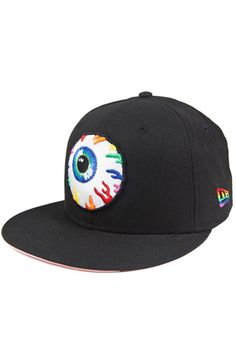 MISHKA's fan favorite cap style, the Keep Watch cap r Fitted Baseball Caps, Fitted Caps, Keep Watching, Mishka, Street Wear, Rainbow, Fitness, Black, Style