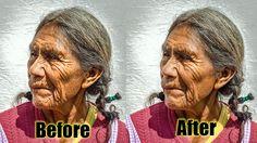 Photoshop CS6 Tutorial   Old Lady Retouching