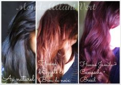 Monde Allant Vert: Les bienfaits du henné pour colorer naturellement les cheveux! Henna, Dark Red Hair, Natural Hair Styles, Long Hair Styles, Diy Hairstyles, Hair Care, Hair Makeup, Hair Color, Hair Beauty