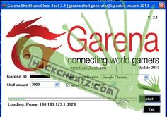 Garena Shell Hack Cheat Tool 2.1 [garena shell generator] Updated December 2013 http://www.hackcheatz.com/garena-shell-hack-cheat-tool-2-1-garena-shell-generator-updated-2013/