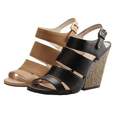 e371ddcde47a   34.99  Leather Women s Wedge Heel Sling Back Sandals Shoes (More Colors)