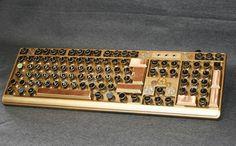 Clavier d'ordinateur Steampunk keyboard French