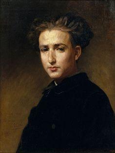 File:Antoni Caba - Portrait of the Painter Ramon Padró - Google Art Project.jpg