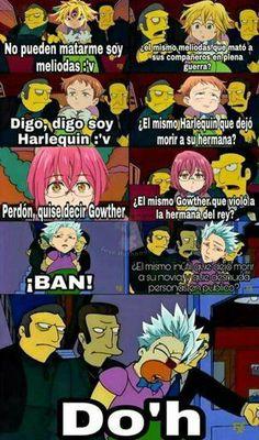 Memes e Imágenes Zukulentas de NNT 7w7 - *____✿ 4 ✿____* - Wattpad Seven Deadly Sins Anime, 7 Deadly Sins, Very Funny Memes, Funny Jokes, Shadow The Hedgehog, Anime Angel, Fujoshi, The Simpsons, Otaku Anime