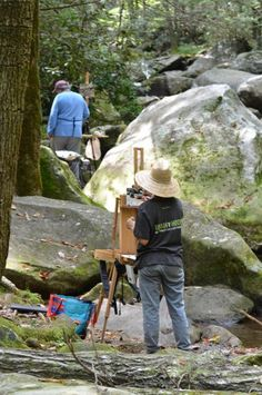 Paint Couse at Jones Gap - Plein Air Painting at @VinoandvanGogh