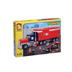 Oxford Lego Style Block Toy ST3335- Town Series F1 Trailer