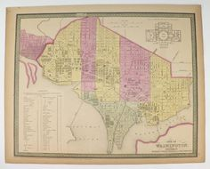 Washington DC Map Georgetown Mitchell Map US Capitol City - Us washington dc map